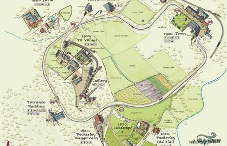 The map of Beamish